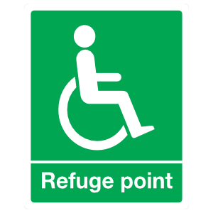 Handicapped Refuge Point Sign Magnet