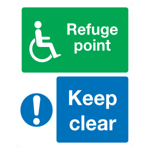 Refuge Point Keep Clear Sign Magnet