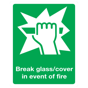 Break Glass Sign Magnet
