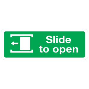 Slide Left To Open Sign Magnet