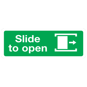 Slide Right To Open Sign Magnet