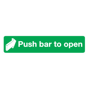Push Bar To Open Sign Magnet