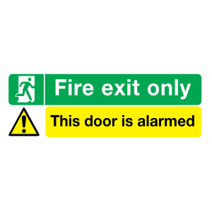 Fire Exit Only Sign Magnet
