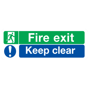 Fire Exit Keep Clear Sign Magnet