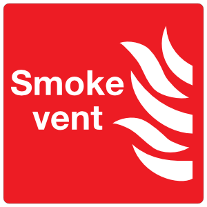 Smoke Vent Sign Magnet