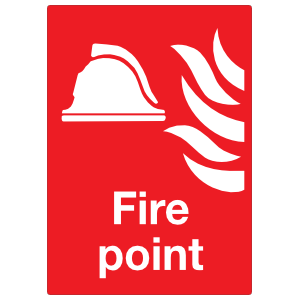 Fire Point Large Sign Sticker