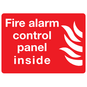 Fire Alarm Control Panel Inside Sign Sticker