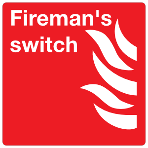Fireman's Switch Sign Magnet