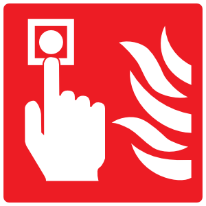 Fire Alarm Icon Sign Magnet