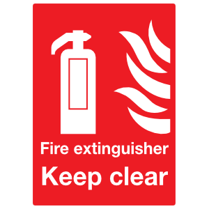 Fire Extinguisher Keep Clear Sign Sticker