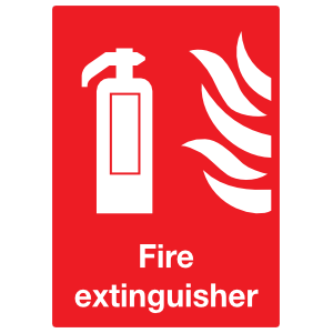 Fire Extinguisher Large Sign Sticker