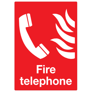 Fire Telephone Sign Sticker