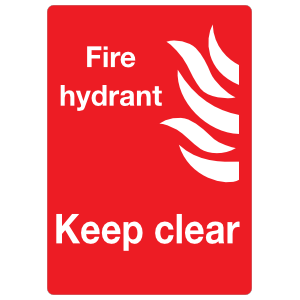 Fire Hydrant Keep Clear Sign Sticker