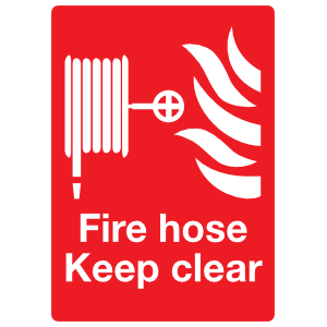 Fire Hose Keep Clear Sign Magnet
