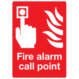 Fire Alarm Call Point Sign Sticker