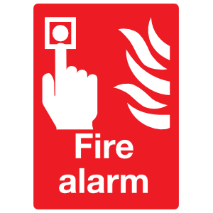 Fire Alarm Large Sign Sticker