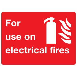 For Use On Electrical Fires Sign Sticker