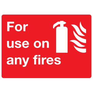 For Use On Any Fires Sign Sticker