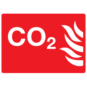 CO2 Sign Sticker