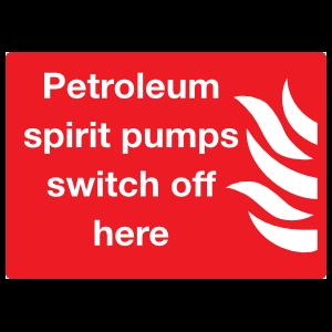 Petroleum Spirit Pumps Switch Off Here Sign Magnet