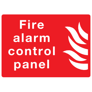 Fire Alarm Control Panel Sign Sticker