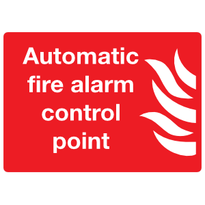 Automatic Fire Alarm Control Point Sign Sticker