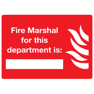 Fire Marshal Sign Sticker
