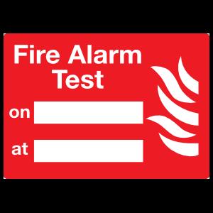 Fire Alarm Test Sign Magnet
