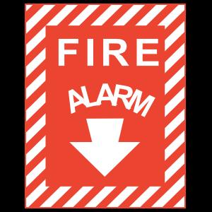 Fire Alarm Stripe Sign Magnet