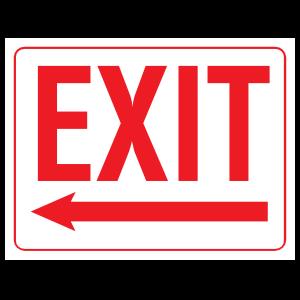 Exit Left Arrow Sign Magnet