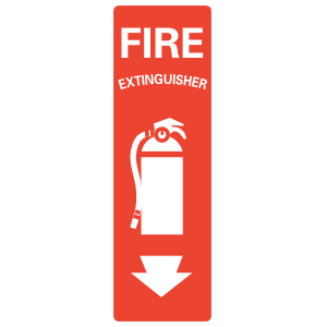 Fire Extinguisher Icon Vertical Sign Sticker
