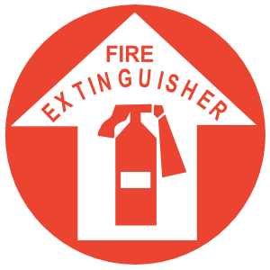 Fire Extinguisher Circle Sign Sticker