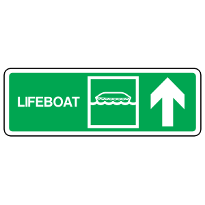 Lifeboat Up Arrow Sign Sticker