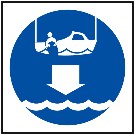 Lower Rescue Boat Sign Sticker