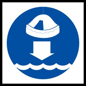 Lower Life Raft Sign Magnet