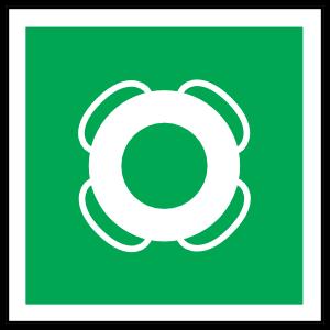 Lifebuoy Icon Sign Sticker
