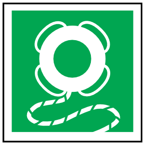 Lifebuoy With Line Icon Sign Magnet