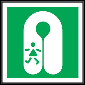 Child's Lifejacket Icon Sign Magnet