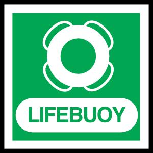 Lifebuoy Sign Sticker