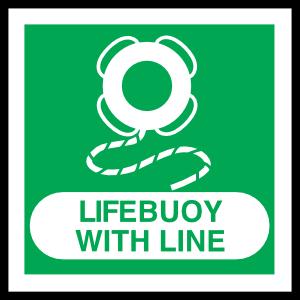 Lifebuoy With Line Sign Sticker