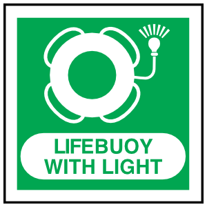 Lifebuoy With Light Sign Magnet