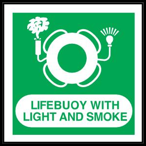 Lifebuoy With Light And Smoke Sign Magnet