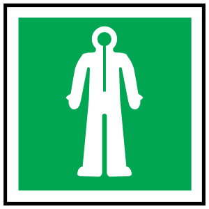 Immersion Suit Icon Sign Sticker