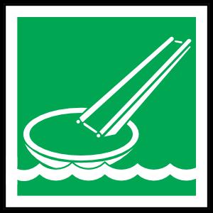 Evacuation Slide Icon Sign Magnet