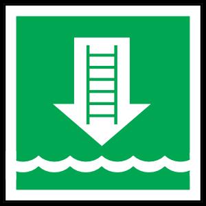 Embarkation Icon Sign Sticker