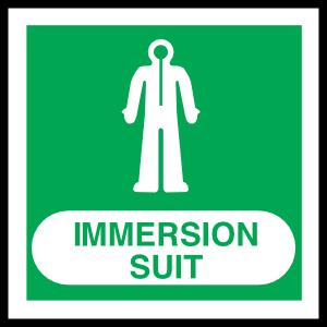 Immersion Suit Sign Magnet