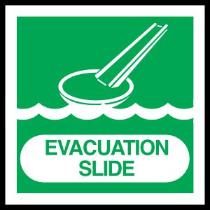 Evacuation Slide Sign Sticker