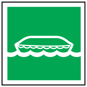 Lifeboat Icon Sign Magnet