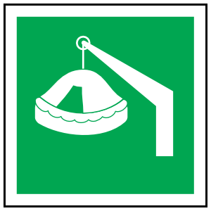 Davit-Launched Liferaft Icon Sign Magnet