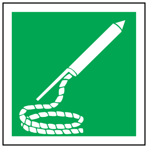 Line-Throwing Appliance Icon Sign Sticker